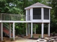 Incorporate Atlantis Cable railing into your deck designs for a great clean look