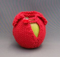 The Apple Sweater Red Hand Knit Cotton Red Apple Novelty Button ** Check out the image by visiting the link.