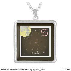 Krebs 22. Juni bis 22. Juli Halskette La Luna, June 22, Astrology Signs, Neck Chain