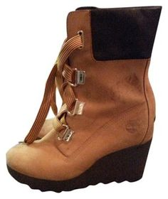 Timberland Tan Wedge Boots Booties Size US 7.5 74% off retail d2ad196eeb