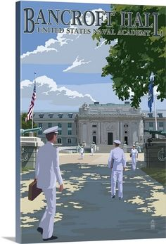 Bancroft Hall - United States Naval Academy - Annapolis, Maryland - Poster