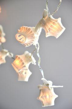 White Soft Felt lamp String Lights LED garland by UrsulaShop
