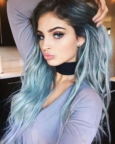 Bold Ombre - Dark hair to blue gray - Best Ombre Hair. Brown, Red, Purple, Vibrant, Blonde, Caramel Ombre #balayageombre #haircolor #ombrehair #ombrehaircolor #ombre #ombrecolor Blonde Ombre Hair, Best Ombre Hair, Brown Ombre Hair, Ombre Hair Color, Hair Colors, Dark Grey Hair Color, Silver Grey Hair, Gray Hair, Pastel Blue Hair