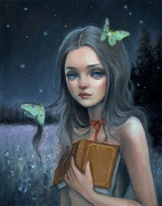 Stories For a Ghost - Happy D Artist oil painting
