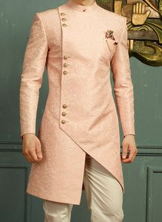 Sherwani - Huge collection of designer Sherwanis for men online. Buy the latest designer Sherwanis for wedding, engagement, and party with the best prices at Cbazaar. Sherwani For Men Wedding, Wedding Dresses Men Indian, Mens Sherwani, Wedding Dress Men, Wedding Attire, Nigerian Men Fashion, Indian Men Fashion, Mens Fashion Suits, Mens Indian Wear