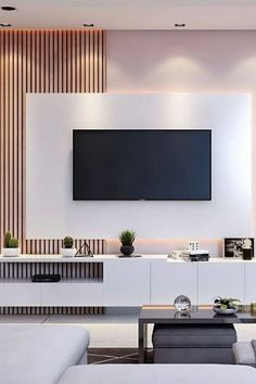 Inspirational ideas best living room TV wall design 15 Contemporary TV unit made of black lacquer with a crocodile structure tvunitdesign Black .Contemporary black lacquer TV unit with crocodile structure tvunitdesign Black . Living Room Interior, Home Living Room, Tv Living Rooms, Living Room Decor Tv, Tv Wall Design, House Design, Hall Design, Living Room Partition Design, Living Room Tv Unit Designs