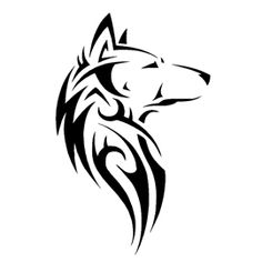 Tribal Wolf Stencil in sheet sizes Tribal Animal Tattoos, Tribal Wolf Tattoo, Wolf Tattoo Design, Wolf Tattoos, Tribal Art, Wolf Stencil, Animal Stencil, Stencil Art, Stencils