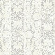 Kenneth James Tianna Ironwork Scroll Wallpaper Opal - 2542-20729