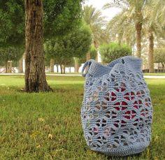 Carry Me Away crochet market bag pattern by jessyz on Etsy