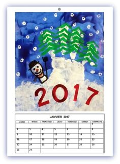 224_Noël et Nouvel an_Calendrier Sapins sur la montagne (59)-001 Diy École, Art For Kids, Crafts For Kids, Theme Noel, Nouvel An, Big Shot, Lund, Happy New Year, Christmas Crafts