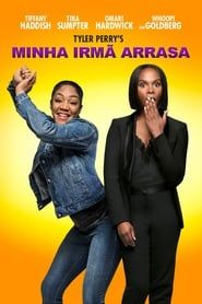 A woman, who gets released from prison and reunites with her sister, discovers she is in an online relationship with a man who may be Amber Riley, Men In Black, Tyler Perry, Jeepers Creepers, Winona Ryder, Batman Vs, John Wick, The Rock, Gotham City