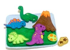 Dinosaur quiet book page addon which can be added to other pages to create the perfect quiet book or buy just this page for hours of fun. Set comes with busy book page 4 different dinosaurs a fossil a