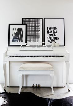 paint piano with white paint - Lonny - Take Note! - Home Tour: An Ohio House by Leanne Ford - Photos