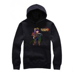 Clash of Clans mens hoodie COC game Archer Queen pattern