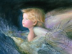 "Nancy Noel, ""Angel of Freedom"" painting. This brings tears to my eyes. I Believe In Angels, Finding Neverland, Angel Pictures, Angels Among Us, Angels In Heaven, Heavenly Angels, Angel Art, Celestial, American Artists"