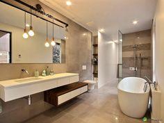 salle de bain de style industriel et rustique on aime cette ceramique a l