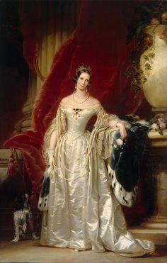 Portrait of Empress Alexandra Fedorovna - Christina Robertson 1842