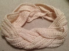Braided crochet scarf; who wants to make this for me?