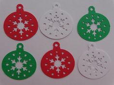 60 Christmas Ornaments Paper Punches Die by SewPrettyInVermont, $3.00.   I can do some nice Holiday Crafts with these!