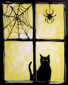 Join us for a Paint Nite event Sun Oct 2018 at 1202 East Patrick Street Frederick, MD. Purchase your tickets online to reserve a fun night out! Halloween Canvas Paintings, Fall Canvas Painting, Witch Painting, Halloween Painting, Halloween Drawings, Halloween Art, Painting & Drawing, Canvas Art, Halloween Stuff