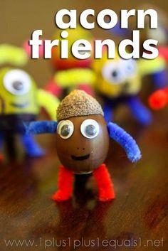 Acorn Friends ~ Fall Craft for kids