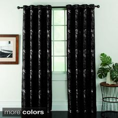 Shop for Ganset Leaves Jacquard Grommet Curtain Panel Pair. Get free delivery On EVERYTHING* Overstock - Your Online Home Decor Outlet Store! Unique Ceiling Fans, Outdoor Ceiling Fans, Window Treatment Store, Window Treatments, Grommet Curtains, Drapes Curtains, Home Decor Bedding, Room Decor, Kitchen Island With Seating