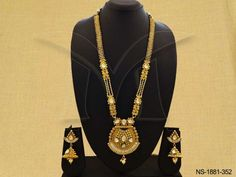 NS-1881-352 || MATKA STYLE BOLLYWOOD ANTIQUE NECKLACE SET