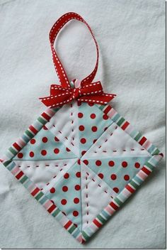 Easy Quilted Ornament
