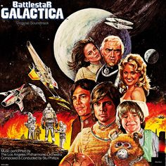 Battlestar Galactica (1978-79, ABC) starring Lorne Green, Richard Hatch & Dirk Benedict — Orignal Soundtrack LP