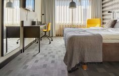 Flooring: Bolon Graphic Checked | Original Sokos Hotel Presidentti | Helsinki, Finland
