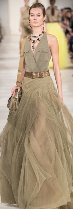 Unique Gown! Designer Dress Ralph Lauren ss 2015