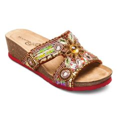 Mountain Sole® Women's Brooke Embellished Footbed Sandals. Image 1 of 3.