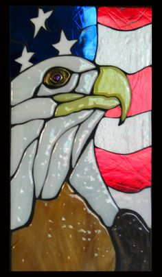 Stained Glass Eagle Wall Hanging