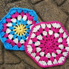Learn how to crochet a granny hexagon with this easy tutorial!