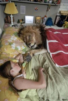 These Photos Of A Teenager And Her Pet Lion Will Shock You! | E.A.