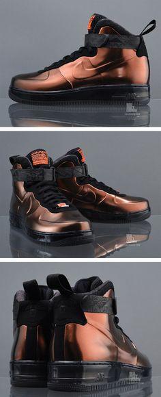 Nike Air Force 1 Foamposite BHM - Metallic Cppr / Metallic Cppr-Black