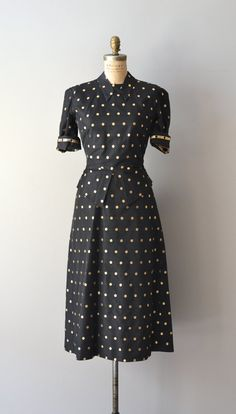 Spotlight Guild dress / 1940s polka dot dress / by DearGolden, $148.00