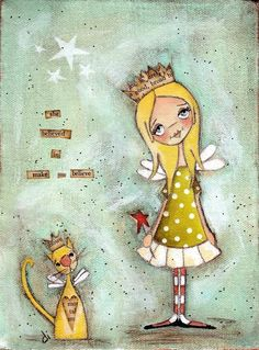 "Polka dot girl ... 'She Believed in Make Believe"" Queen for a Day...."