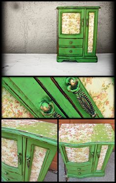 Jewelry box painted with Antibes Green Chalk Paint®