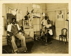 Barbershop.  Courtesy of the Mississippi Department of Archives and History via Flickr.