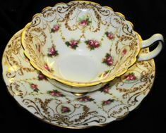 ROYAL-DOULTON-ANTIQUE-PINK-ROSES-WHITE-CURVY-TEA-CUP-AND-SAUCER