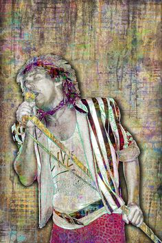 Check out Rod Stewart @ Iomoio Rod Stewart, Tribute, Sand Art, Joker And Harley Quinn, Pop Music, Rock Art, Caricature, Rock N Roll, Painting & Drawing