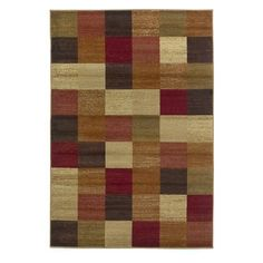 Kas Rugs Lifestyle 5426 - Beige Squares 5.3x7.7' $134.99