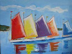 nautical folk art painting - Google Search
