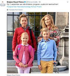 Voor de kinderen van koning Filip en koningin Mathilde zit de zomervakantie erop. Kroonprinses Elisabeth (15), prins Gabriël (14), prins Emmanuel (11) en prinses Eléonore (9) moesten vrijdag weer naar school. Koning Filip ging Elisabeth, Gabriël en Eléonore afzetten aan het Sint Jan-Berchmanscollege in Brussel. Zij beginnen respectievelijk aan het 5de jaar secundair, het 3de jaar secundair en het 4de jaar lager onderwijs. Prins Emmanuel werd door koningin Mathilde afgezet bij de Eurekaschool…