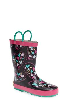 Toddler Girl's Western Chief 'Heart Doodle' Rain Boot