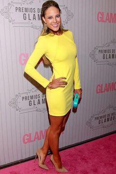 Killer tight yellow dress