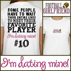 Football Girlfriend tshirt  Proud Football by DesignsbyJackelyn