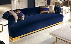 SOFA DR101 WITH GOLD METAL