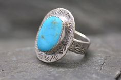 Handmade Sterling Silver Royston Turquoise Ring Size 9 by PureDichotomy (Wendy Wetherbee)